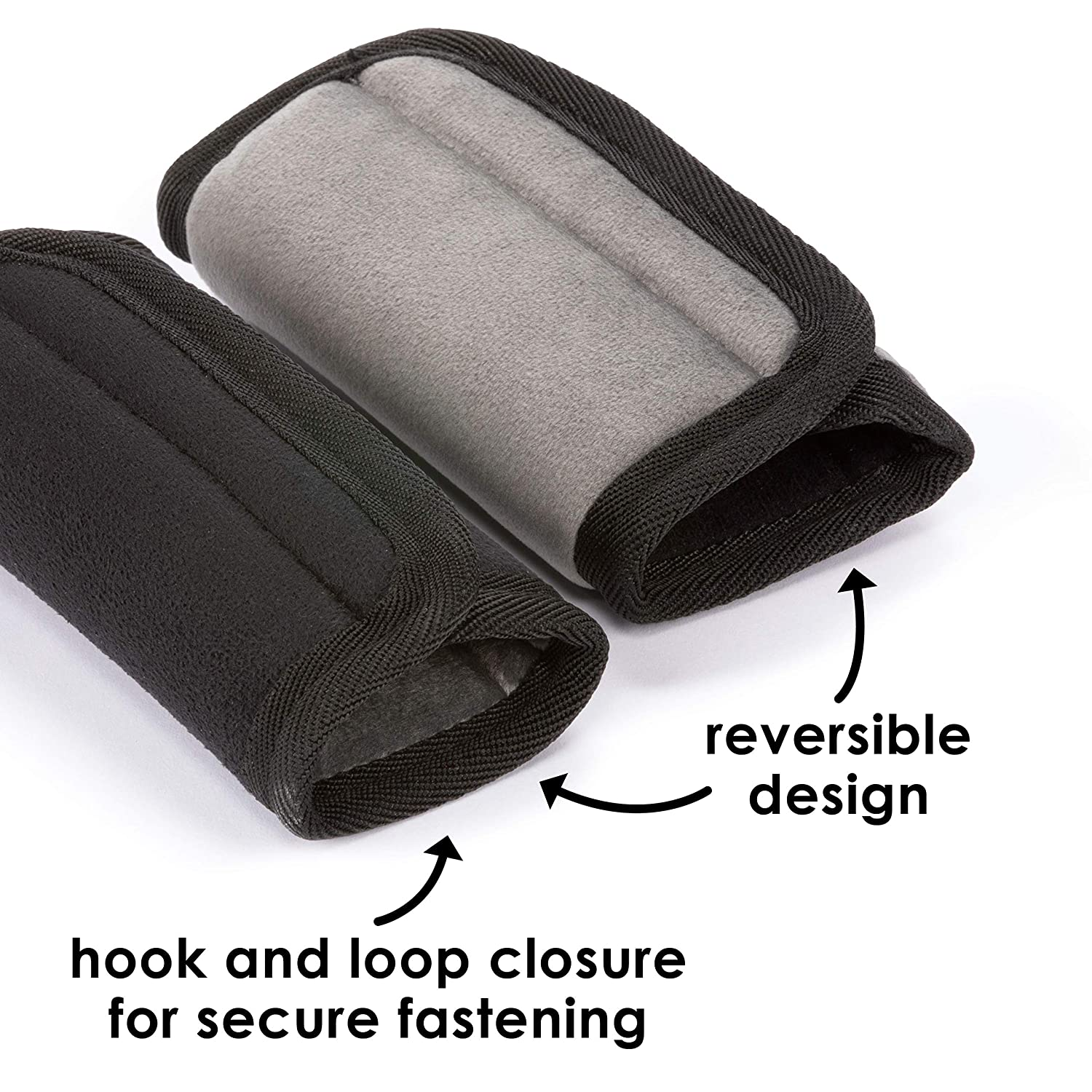 Soft Plush Seatbelt Shoulder Pad for Child Baby Comfort Car Seat and Stroller 2-Pack for Vehicle Black Diono Harness Strap Cover Soft Wraps Prevents Strap Rubbing and Irritation