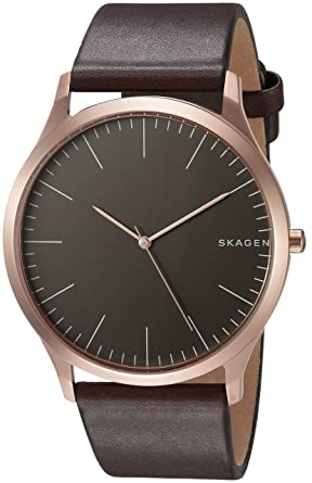 cc7ea783498 Amazon.com  Jorn Dark Brown Leather Watch  Skagen  Watches