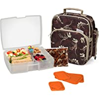Bentology Lunch Bag and Box Set for Boys - Includes Insulated Durable Tote Bag with Handle and bottle holder, Bento Box…
