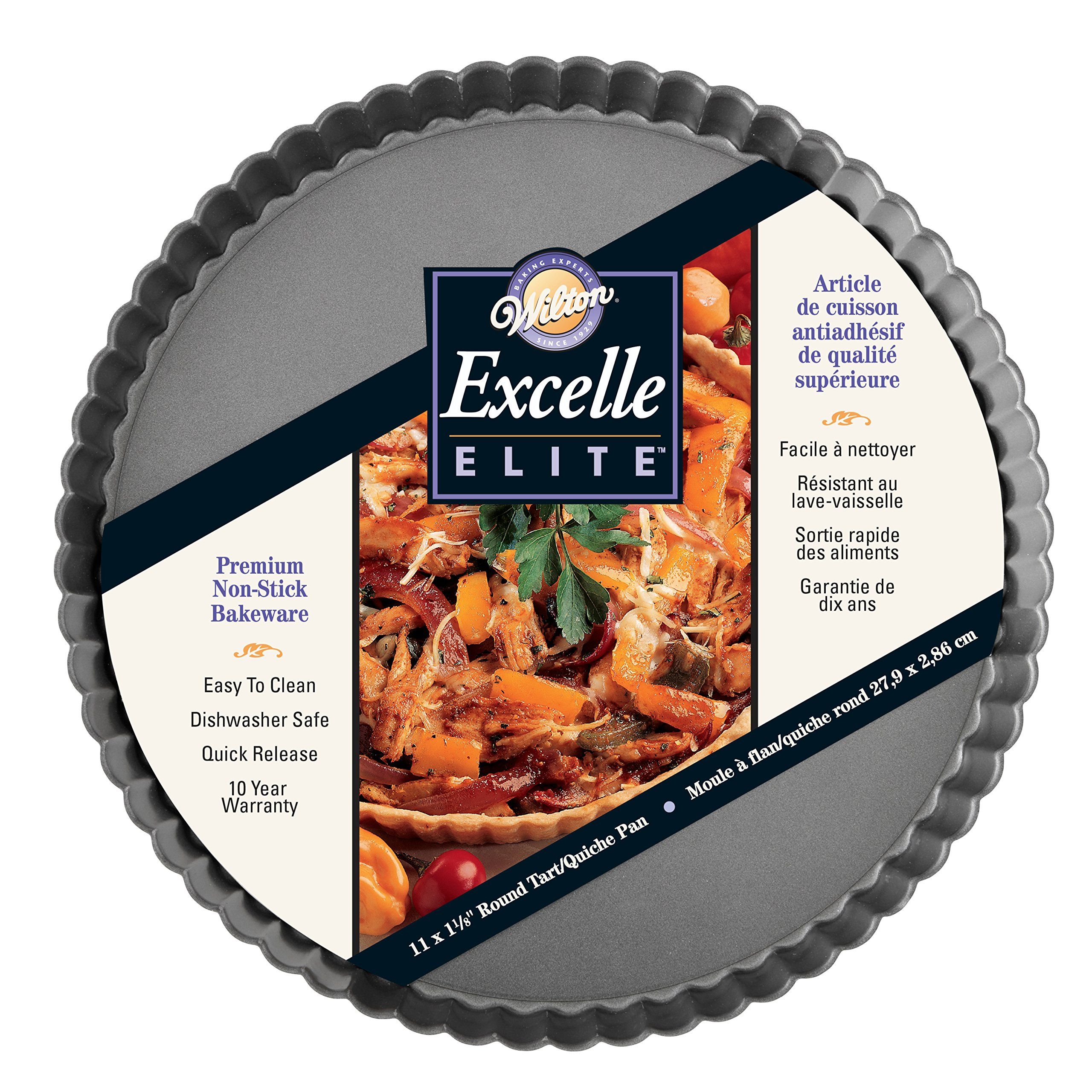 Wilton Excelle Elite Non-Stick Tart Pan and Quiche Pan with Removable Bottom, 11-Inch by Wilton (Image #2)