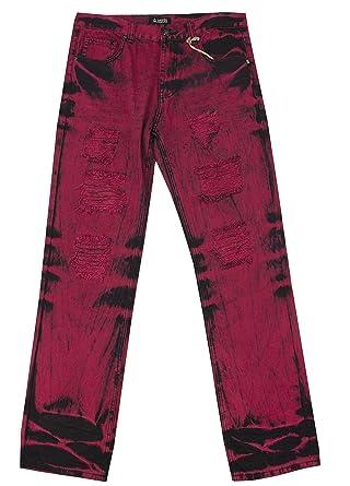 8b37906415b Amazon.com: Access Men's Big & Tall Straight Fit Distressed Jeans: Clothing