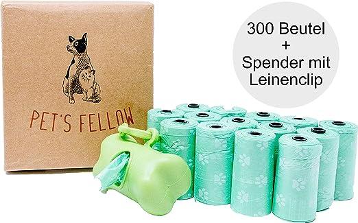 Pets Fellow 300 Bolsa para excrementos de Perros, Biodegradable ...
