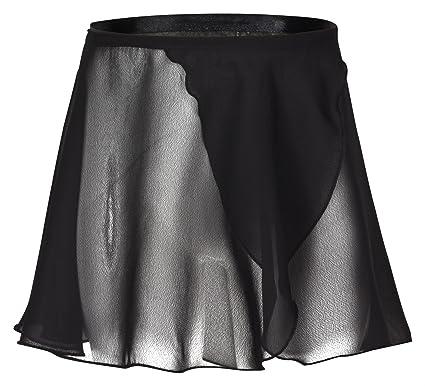 tanzmuster falda de ballet cruzada de gasa Emma para niñas en negro, 92