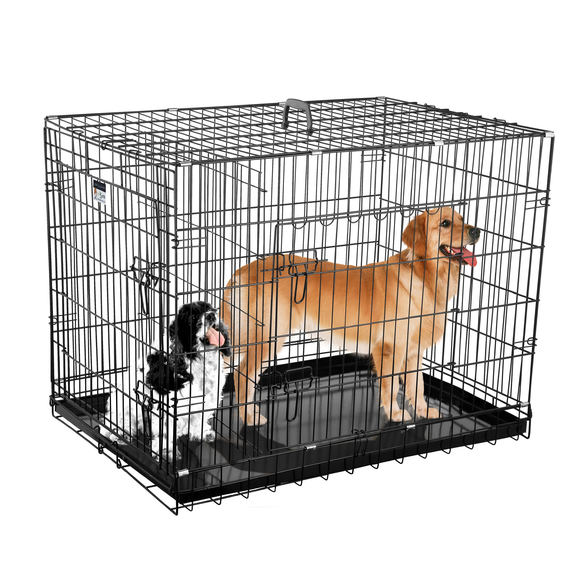 2202 Pet Trex Premium 36'' Folding Pet Crate Kennel Wire Cage for Dogs Cats or Rabbits by Pet Trex