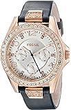 ساعة فوسيل دائرية للنساء ES3887 - انالوج، رسمية