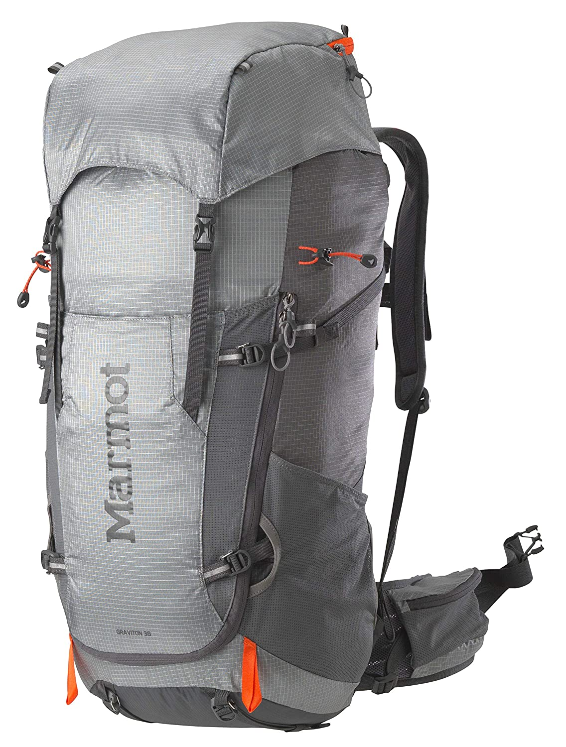Marmot Graviton 38 Lightweight Hiking Backpack, Steel Cinder