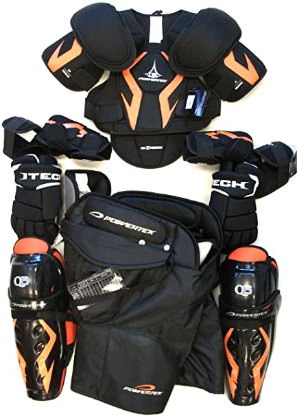 New Senior Ice Hockey Pants Gloves Shin Elbow Shoulder Pads Sr Set