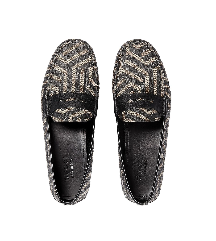 780f6e208 Amazon.com: Gucci Men's GG Supreme Caleido Driver Loafer, Beige/Black  429357 (9 US / 8.5 UK): Shoes