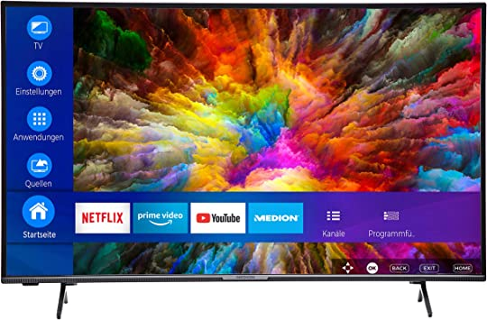 MEDION (43 49 55 pulgadas) UHD Televisor (Smart TV, 4K Ultra HD, HDR10, Micro Dimming, Netflix, Prime Video, WLAN, PVR, Bluetooth): Amazon.es: Electrónica