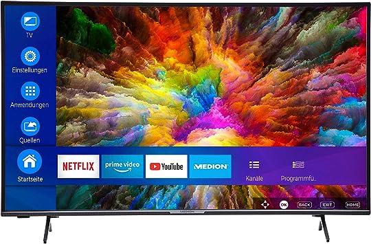 MEDION (43 49 55 pulgadas) UHD Televisor (Smart TV, 4K Ultra HD, HDR10, Micro Dimming, Netflix, Prime Video, WLAN, PVR, Bluetooth): Amazon.es: Electrónica