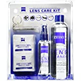 Zeiss Lens Care Kit - 8oz Lens Cleaner Refill, 2oz Refillable Lens Cleaner Spray, 2 Microfiber Cloth, 10 Individually Wrapped