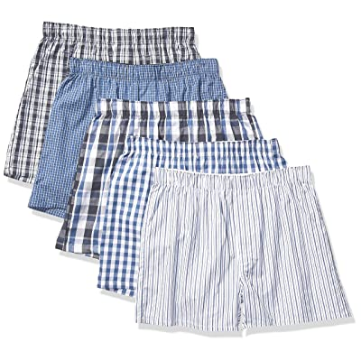 Essentials Men's 5-Pack Boxer Short: Clothing