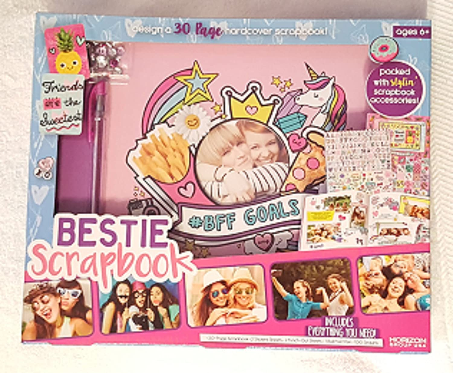 Bestie Scrapbook Kit with 30 Pages and Hardcover with Decoration Supplies Horizon Group USA Inc.