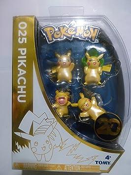 Pokemon 025 Pikachu - Pack of 4 Mini Figures - 20th Anniversary ...