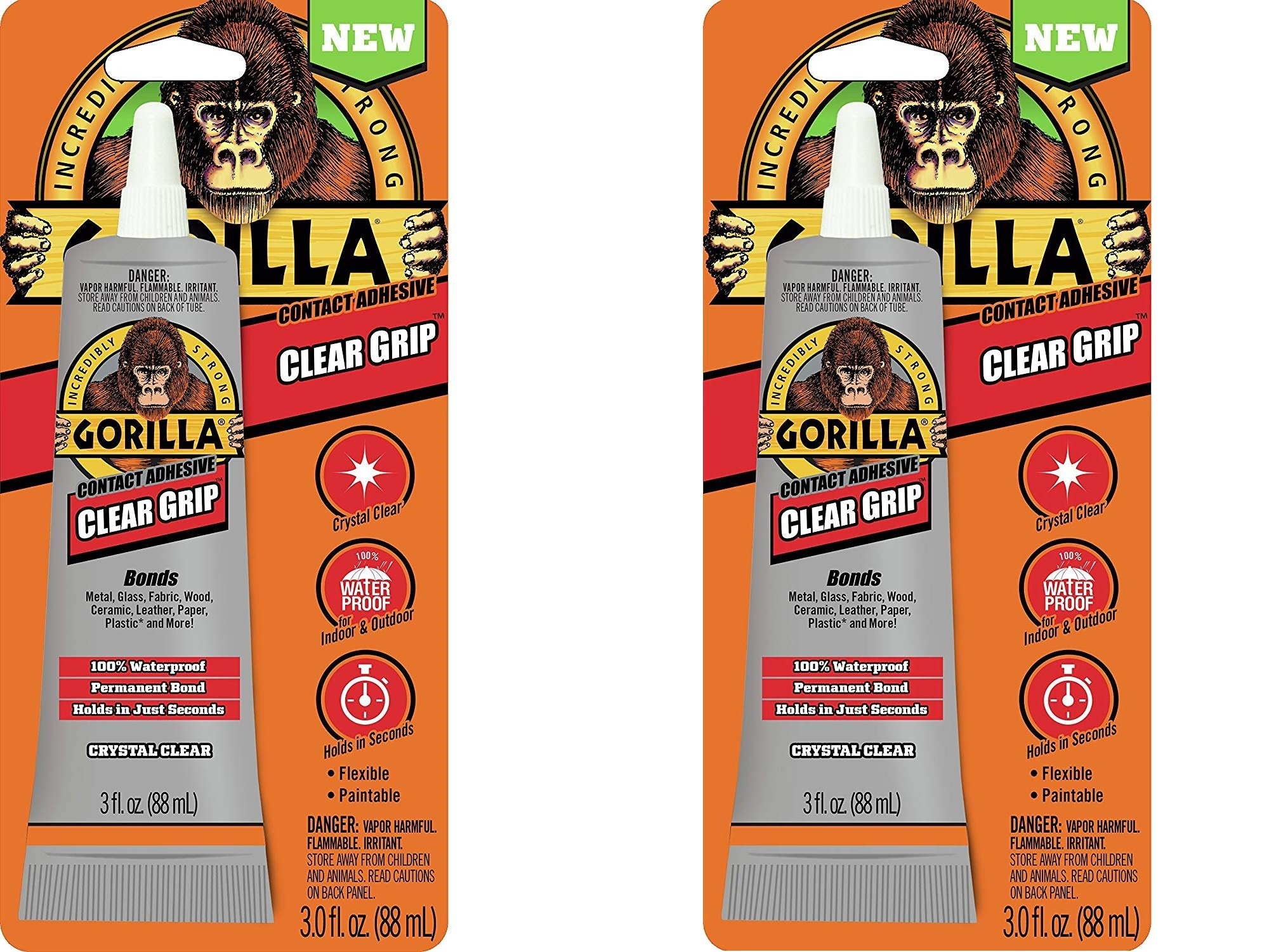Gorilla 8040001 Clear Grip Contact Adhesive, 3 Oz, Clear