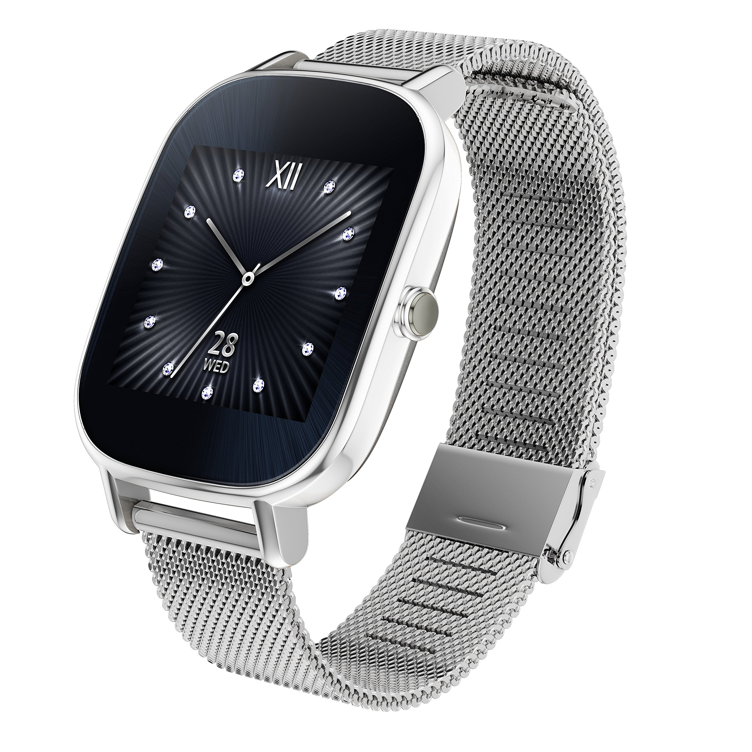 ASUS ZenWatch 2 Android Wear Smartwatch - 1.45'', Silver case with Silver Metal band