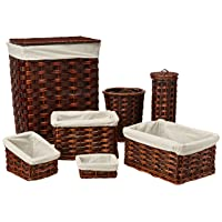 Deals on Honey-Can-Do HMP-01866 7-Piece Wicker Hamper Kit