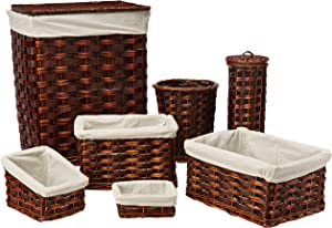 Honey-Can-Do HMP-01866 7-Piece Wicker Hamper Kit