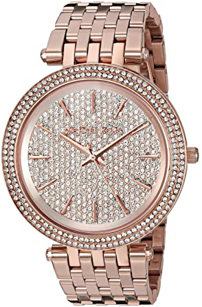 153ed22faf4f Amazon.com  Michael Kors Women s Darci Rose Gold-Tone Watch MK3439 ...