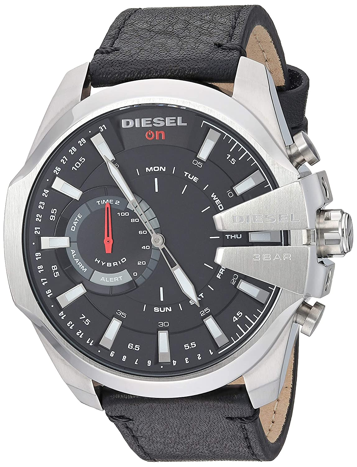 Diesel Hybrid Smartwatch - Negro Piel Mega Chief: Amazon.es ...