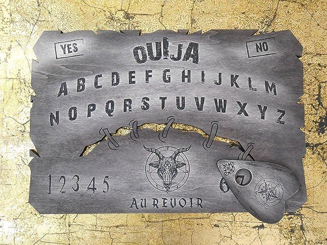 Tabla Ouija de madera pintada a mano
