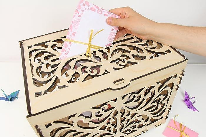 Wedding Card Box, Wedding Card Holder, Card Box For Wedding, Money ...