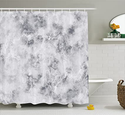 Ambesonne Marble Shower Curtain Granite Surface Pattern With Stormy Details Natural Mineral Formation Print