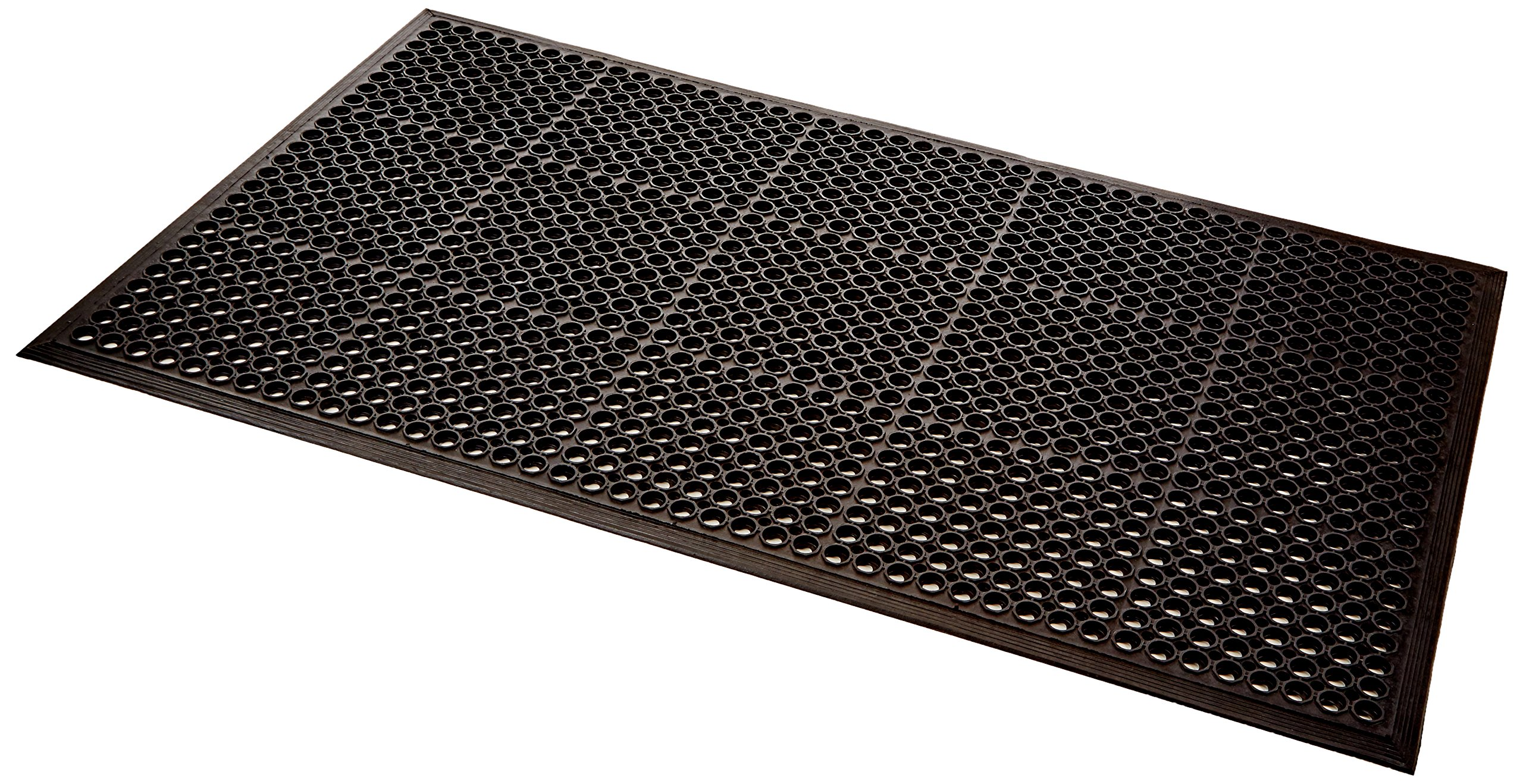 UltraSource Safety/Anti-Fatigue Mat for Wet Areas, 3' x 5', Black