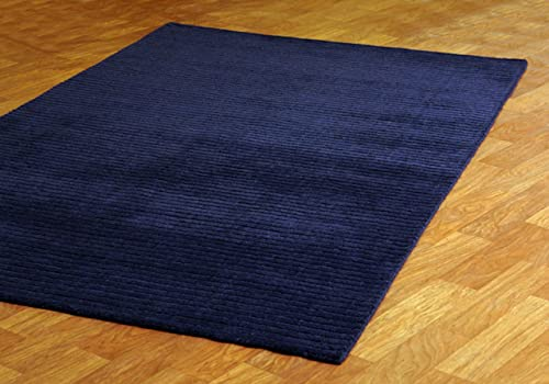 Blue Pulse 8 X 10 Hand Tufted Wool Rug