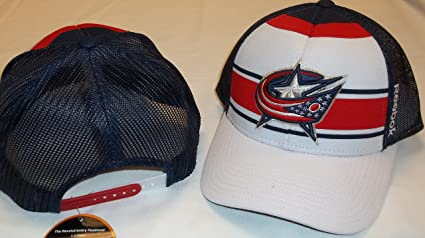 41f2d63fdef Image Unavailable. Image not available for. Color  Columbus Blue Jackets  Mesh Back Reebok Hat ...
