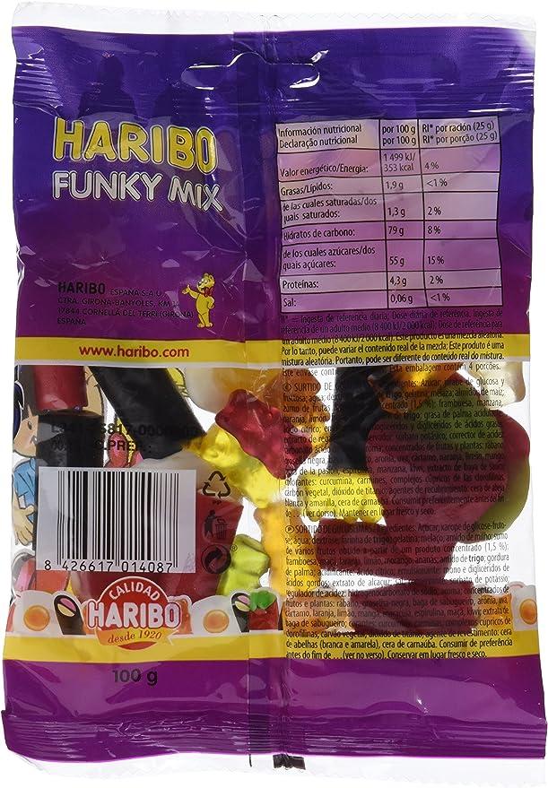 Haribo - Funky Mix - Surtido de golosinas - 100 g - [Pack de 6]
