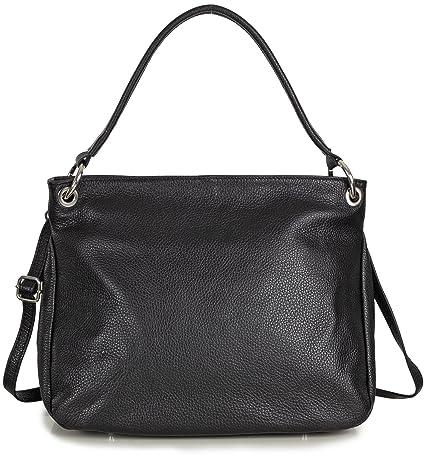 a95ac52db8eed Schultertasche Leder schwarz Damen Handtasche zum umhängen von Taschenloft  (34 x 28