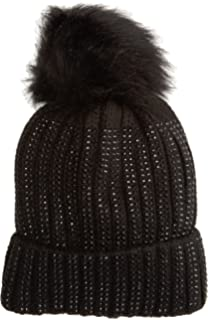 Womens Lurex Cable Beanie, Blue (Navy), One Size (Manufacturer Size: 1) Dorothy Perkins