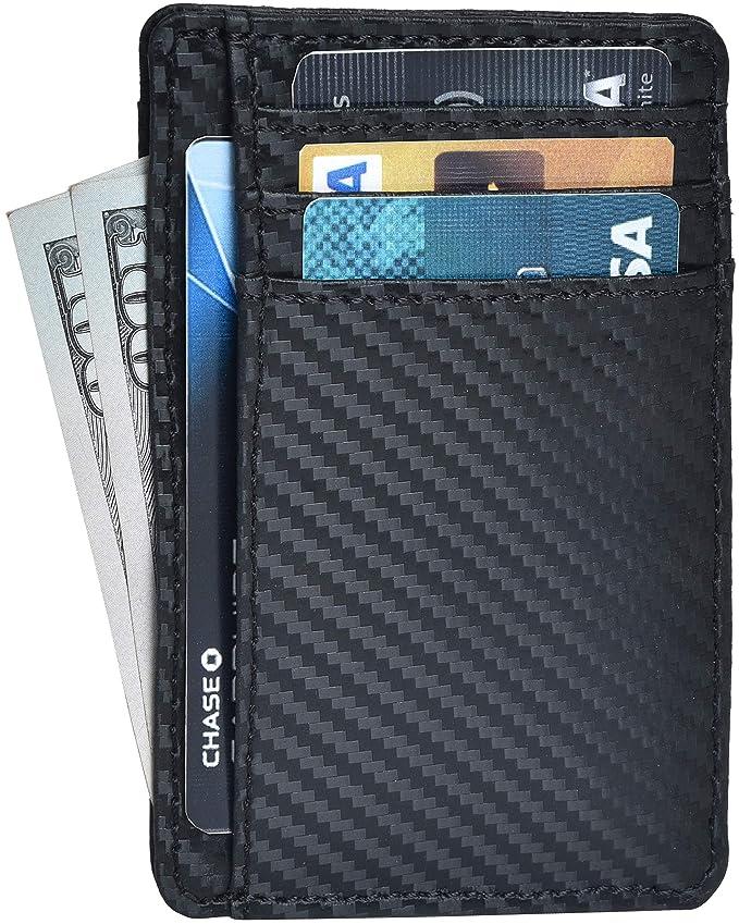 Clifton Heritage Leather Wallets for Men & Women – RFID Blocking Super Slim Minimalist Design Front Pocket Wallet