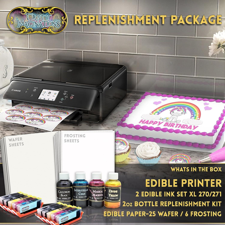 Amazon.com: Edible Printer Bundle - Includes XL Edible Ink Cartridges, XL  Cleaning Cartridges & Frosting Sheets: Electronics