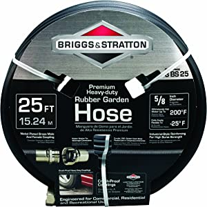 Briggs and Stratton 8BS25 25-Feet Premium Heavy-Duty Rubber Garden Hose
