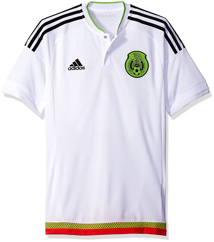 finest selection b05ed b8acb adidas International Soccer Mexico Men's Jersey, X-Small, White/Black