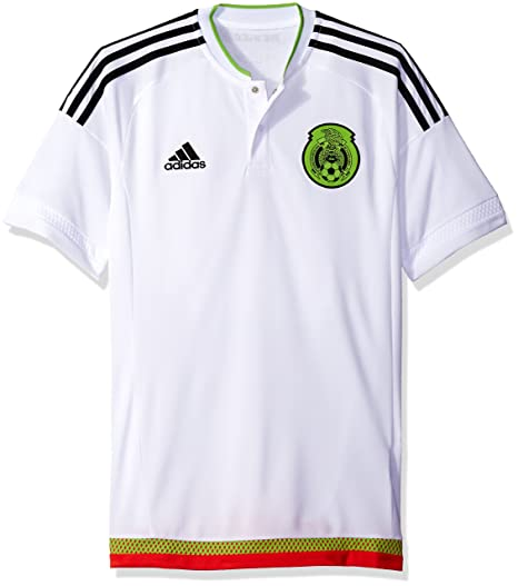 260e9292095 adidas International Soccer Mexico Men's Jersey, Small, White/Black