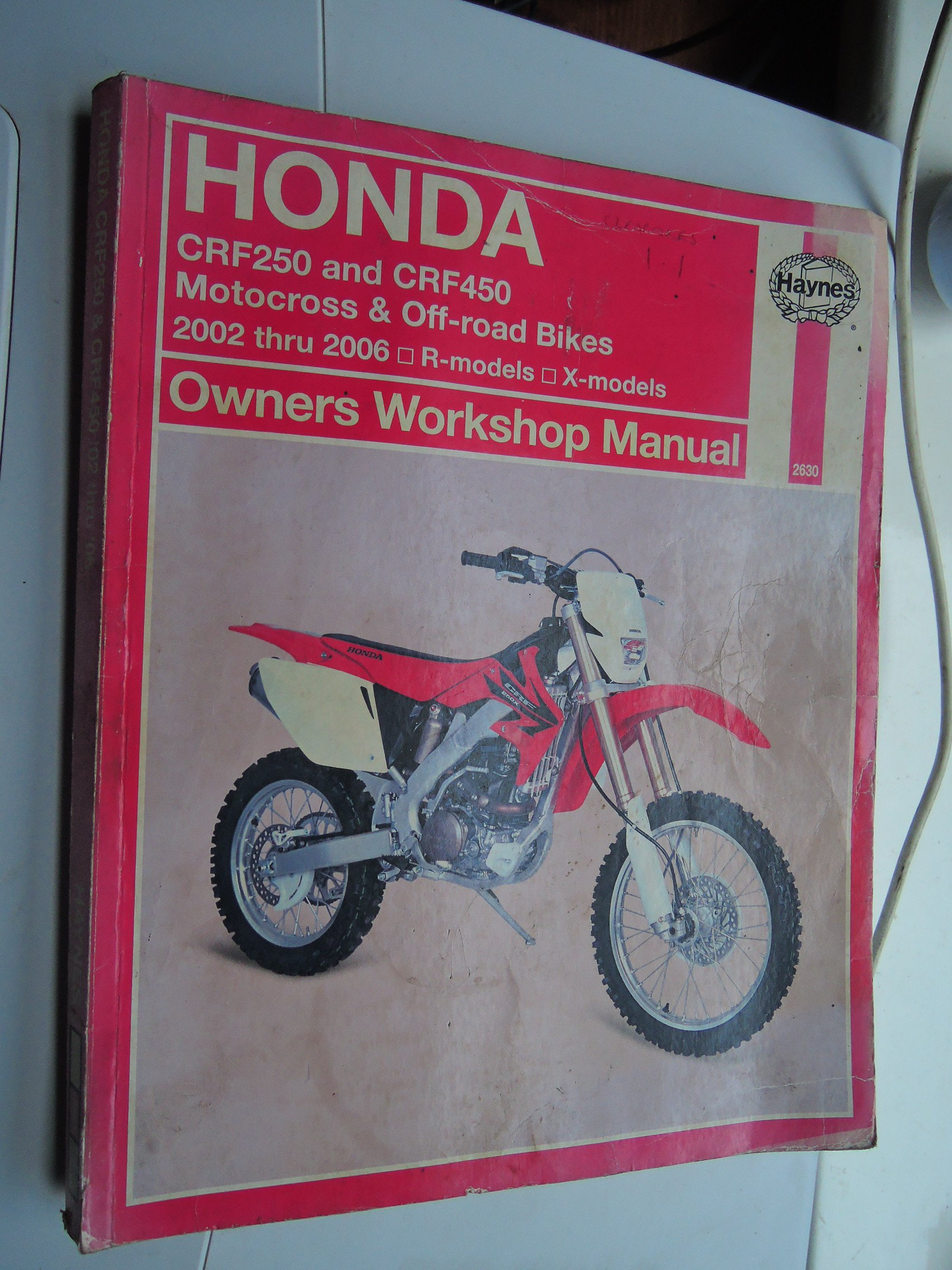 Honda CRF 250 X 2004 Haynes Service Repair Manual 2630