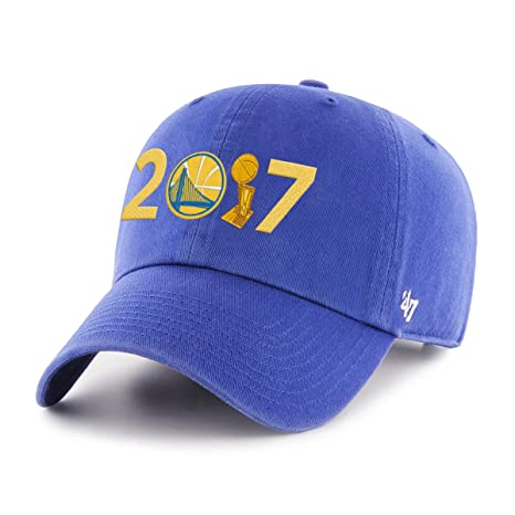 9dc3534f425ea  47 NBA Golden State Warriors Adult 2017 Champions Clean Up Adjustable Hat