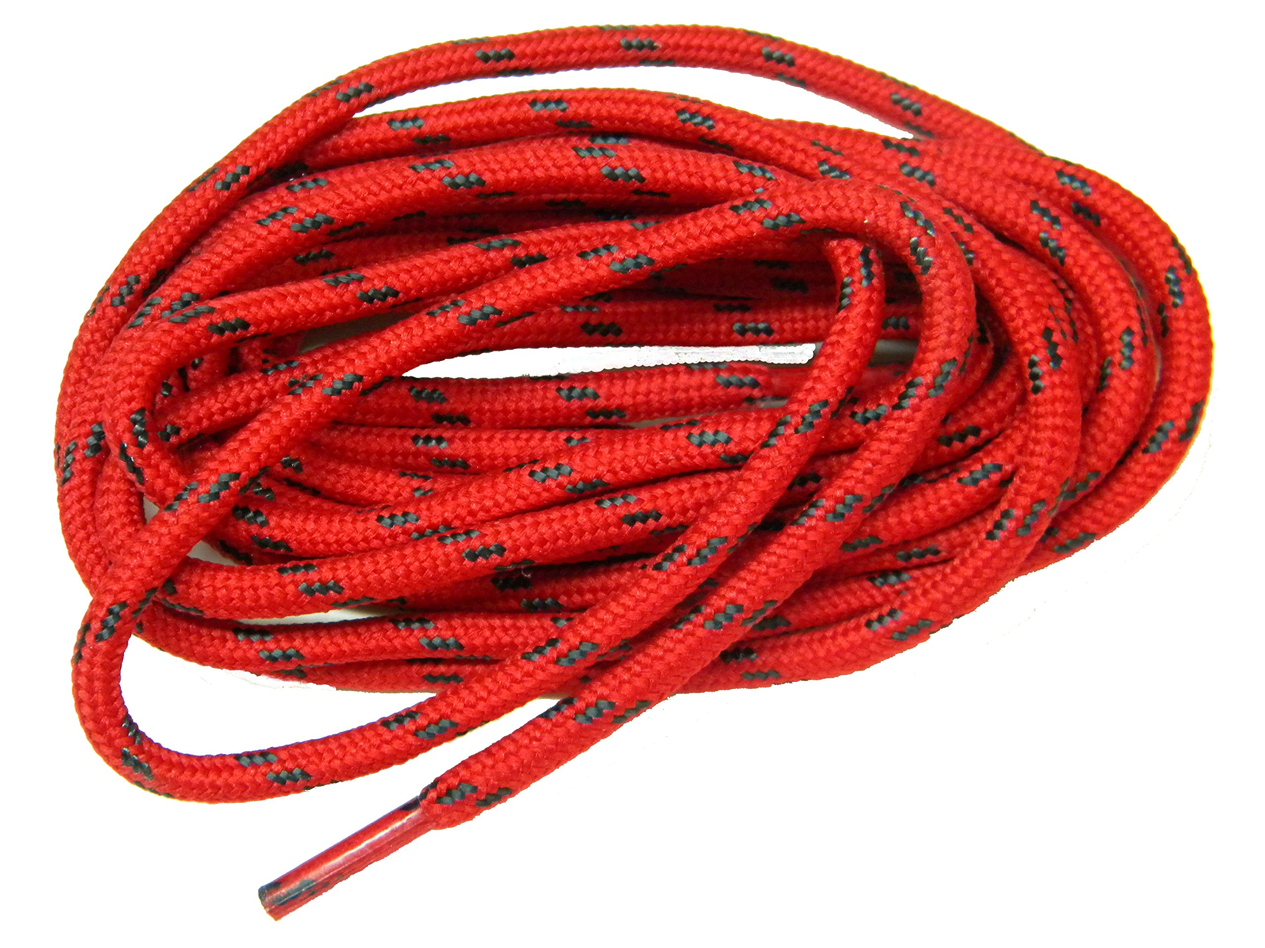 63 RED w/ BLACK Kevlar (R) proTOUGH(TM) Boot Shoelaces 2 pair pack (63 inch 160 cm)