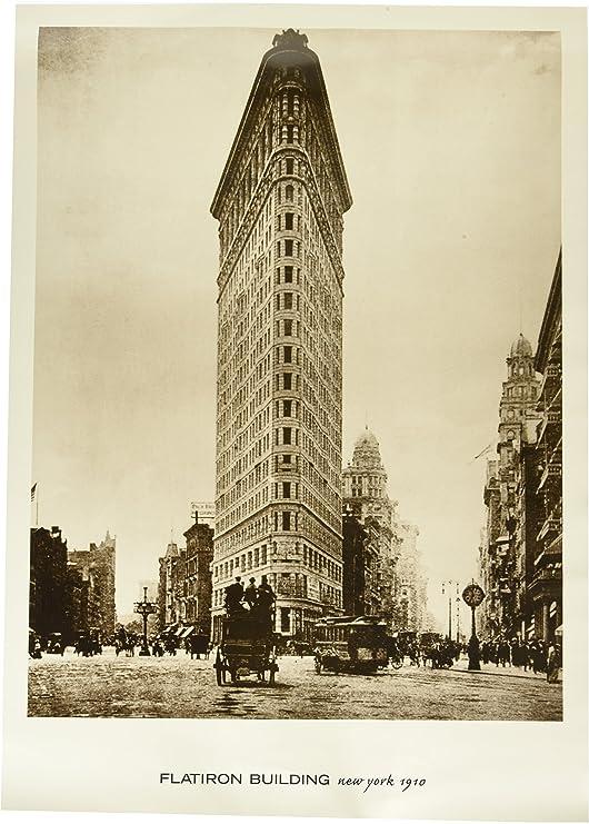Amazon.com: Flatiron Building, Nueva York, 1910. Blanco y ...