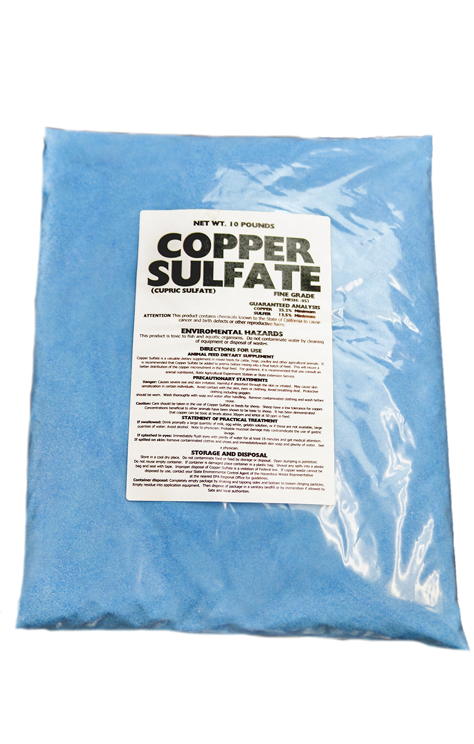 Earthworks Health LLC Copper Sulfate Crystals-10Lb Bag (FINE CRYSTALS) by Earthworks Health LLC