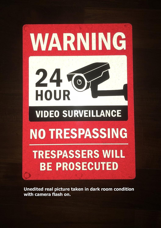 Amazon.com: Kubik - Cartel de vigilancia de vídeo con letras ...