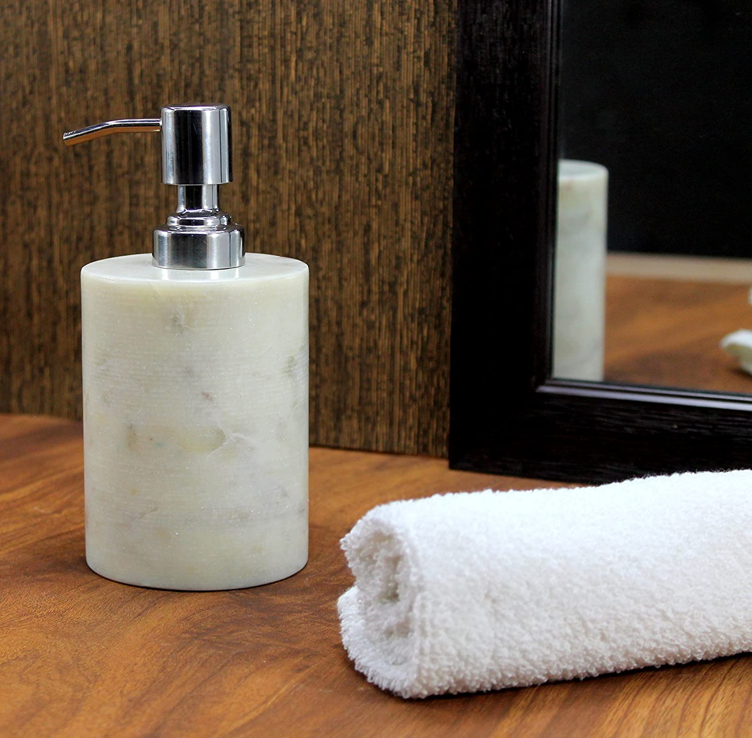 Kleo Soap/ Lotion Dispenser   Made Of Genuine Indian Marble In White Color    Luxury Bathroom Accessories Bath Set: Amazon.in: Home U0026 Kitchen
