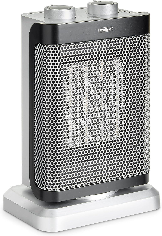 Vonhaus Ceramic Ptc Heater 1000w 1500w Oscillating With 2