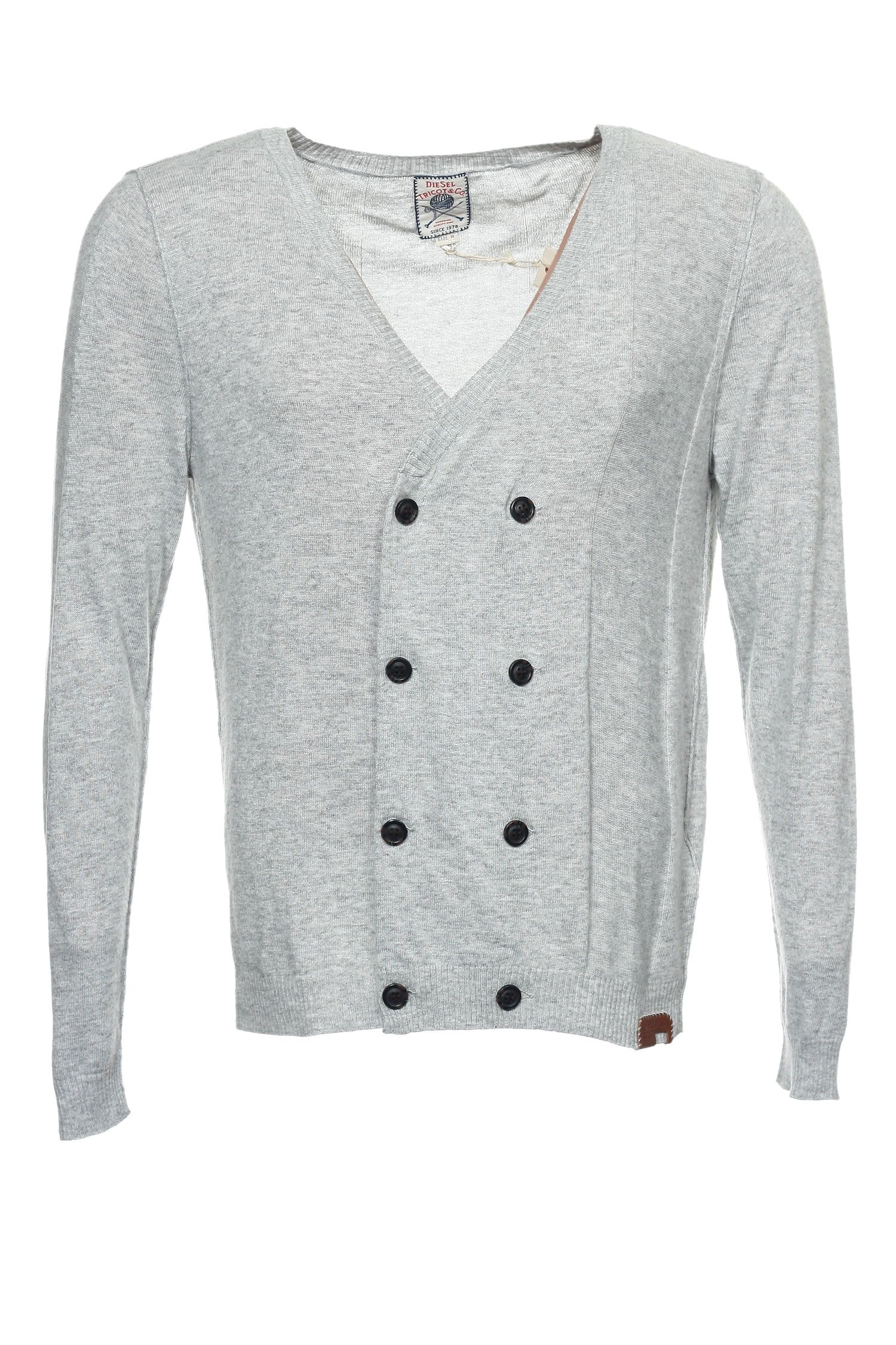 Diesel 'Tricot & Co' Light Gray Heather Cardigan Sweater , Size XLarge