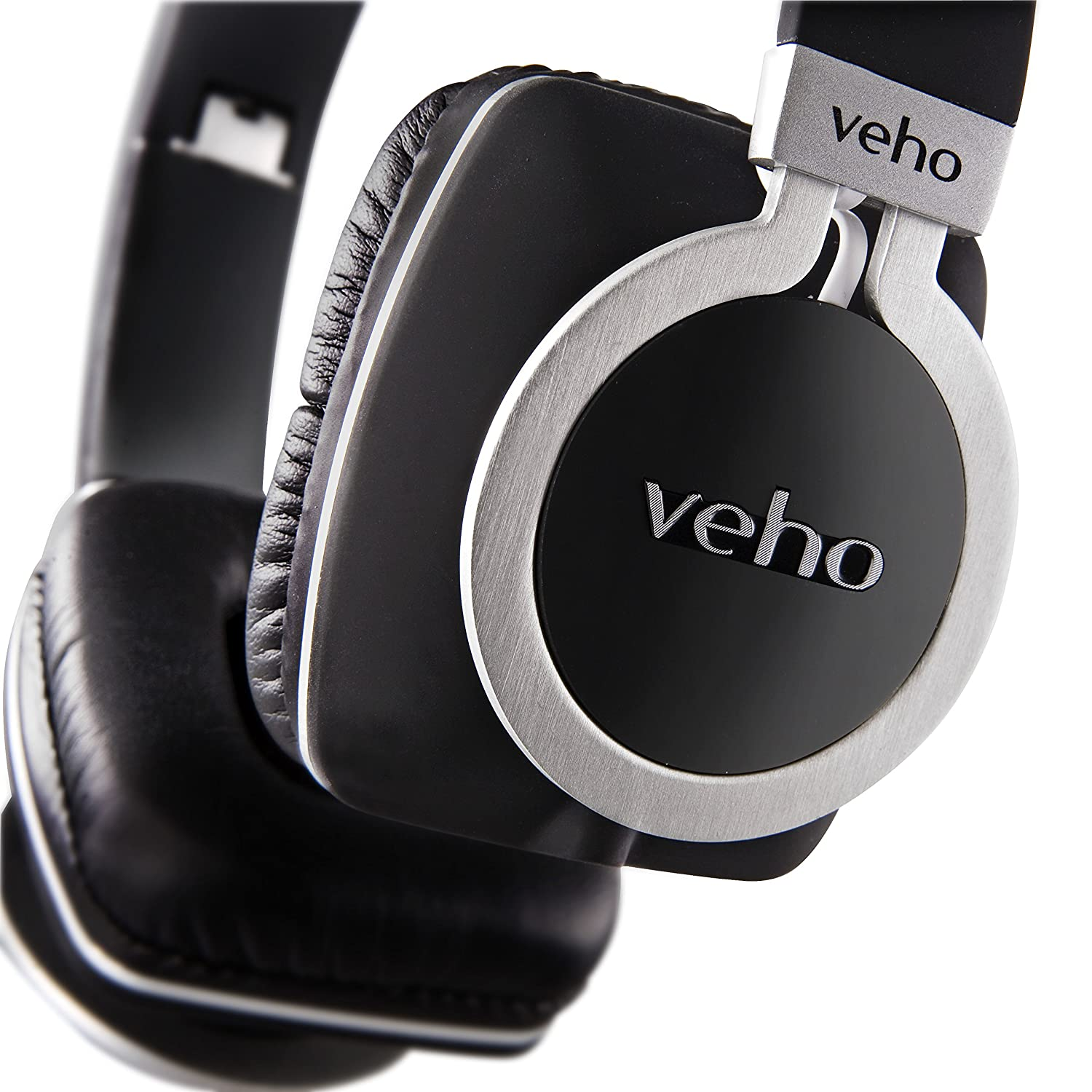 Veho VEP-008-Z8 360 Z8 Designer Aluminium Headphones with Detachable Flex Cord System and Folding Design, Black VEP-008-Z8_Black