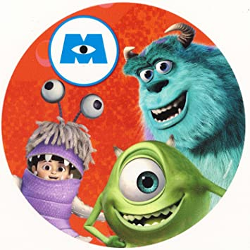 Monsters Inc  Sully & Boo ~ Edible Image Cake / Cupcake Topper!!! (8