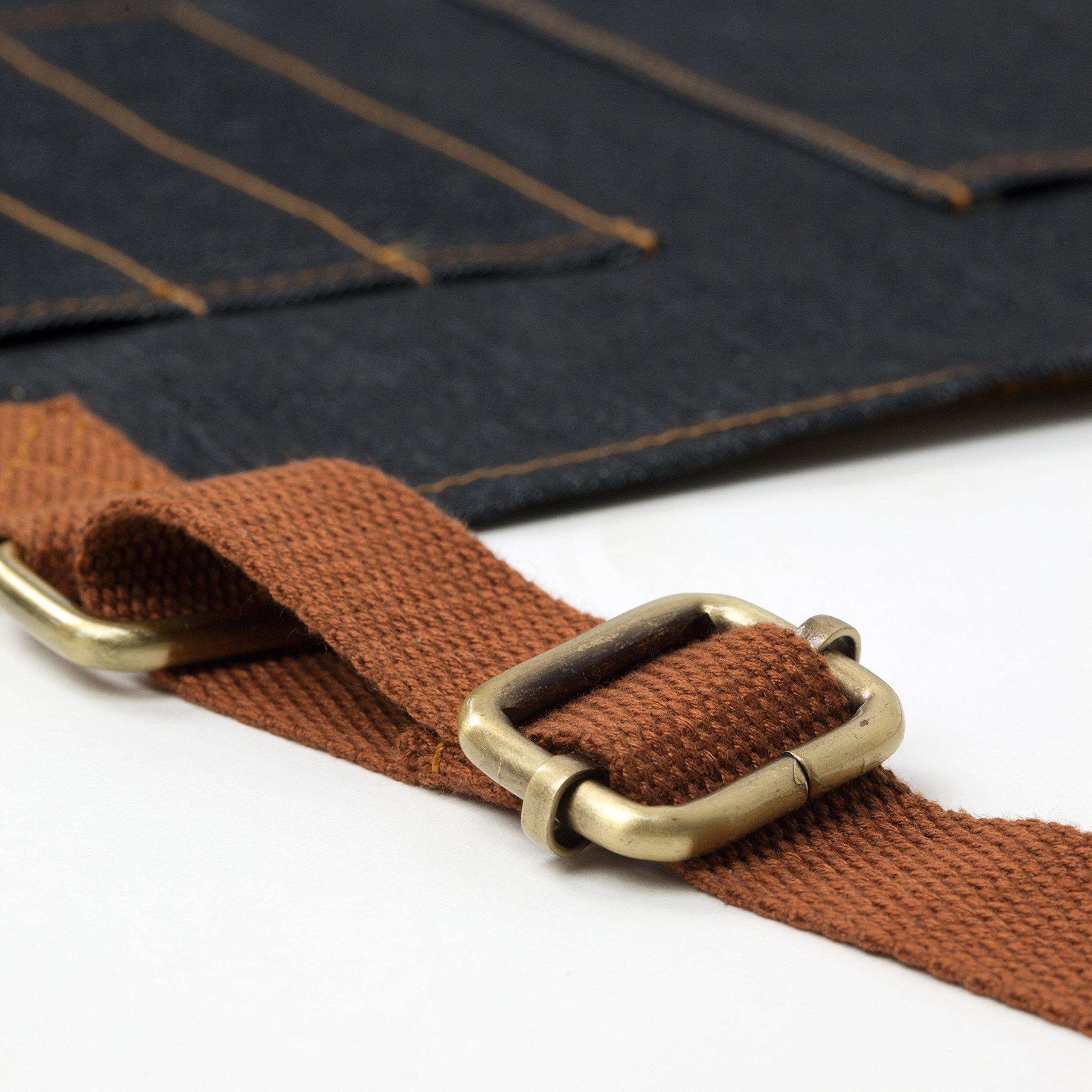 Vulcan Workwear Utility Apron - Multi-Use Shop Apron with Pockets - Lightweight Denim Tool Apron by Vulcan Workwear (Image #4)
